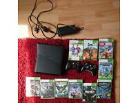 Xbox 360 elite 120gb + games