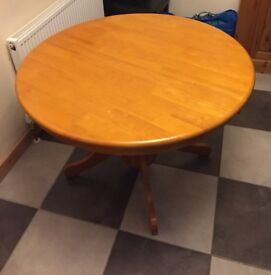 extendable round dinning table