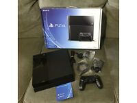 Sony PlayStation 4 500GB Jet Black Console + two games