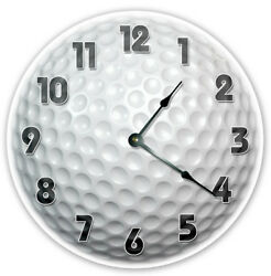 12 GOLFER GOLF BALL CLOCK - Large 12 inch Wall Clock - Printed Photo - 2122
