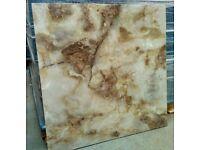 TILES JOBLOT 04: Stunning Jaipur marble effect 80x80cm extra large polished porcelain tiles 30sqm