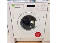 REDUCED!! Hoover White 1400 8KG INTEGRATED Washing Machine + 3 Month Guarantee + FREE LOCAL DELIVERY