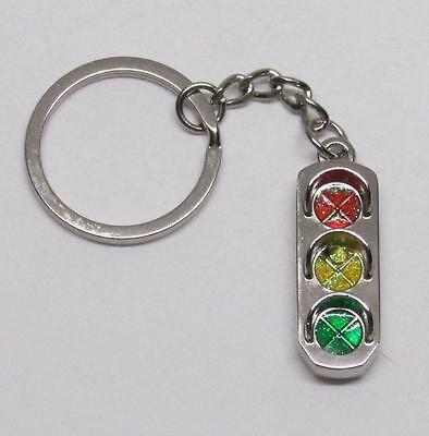 Mini Alloy 3D Traffic Light Key Chain Ring Keychain NEW