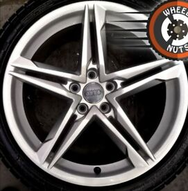 """18"""" Genuine Audi A5 A4 S Line alloys perfect cond excel Avon tyres."""