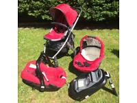 Uppababy Travel System Pram / Buggy / Stroller / Car Seat / Isofix base