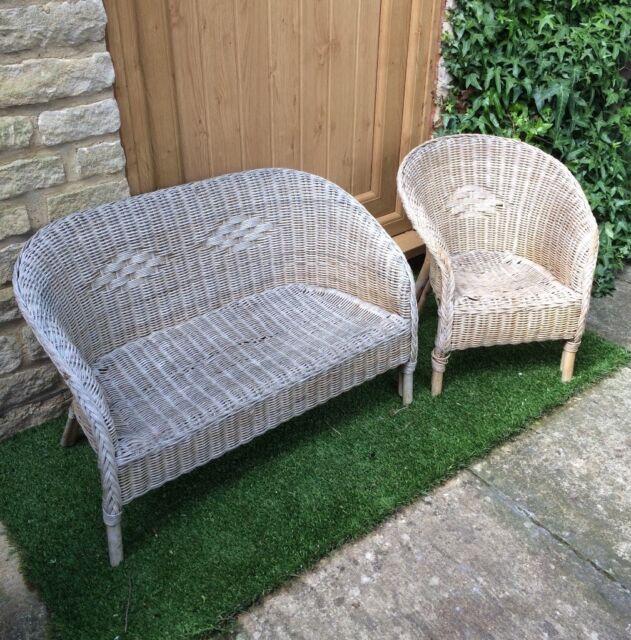 Strange Kids Wicker Sofa Armchair Set In Chipping Norton Oxfordshire Gumtree Beatyapartments Chair Design Images Beatyapartmentscom