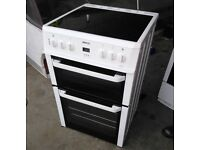 Beko BDVC664W 600mm Fan Assisted Electric Double Oven Cooker With Ceramic Hob