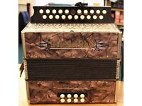 Vintage Fantastic Condition Hohner Double- Ray Dot Accordion in Key of B/C - £450