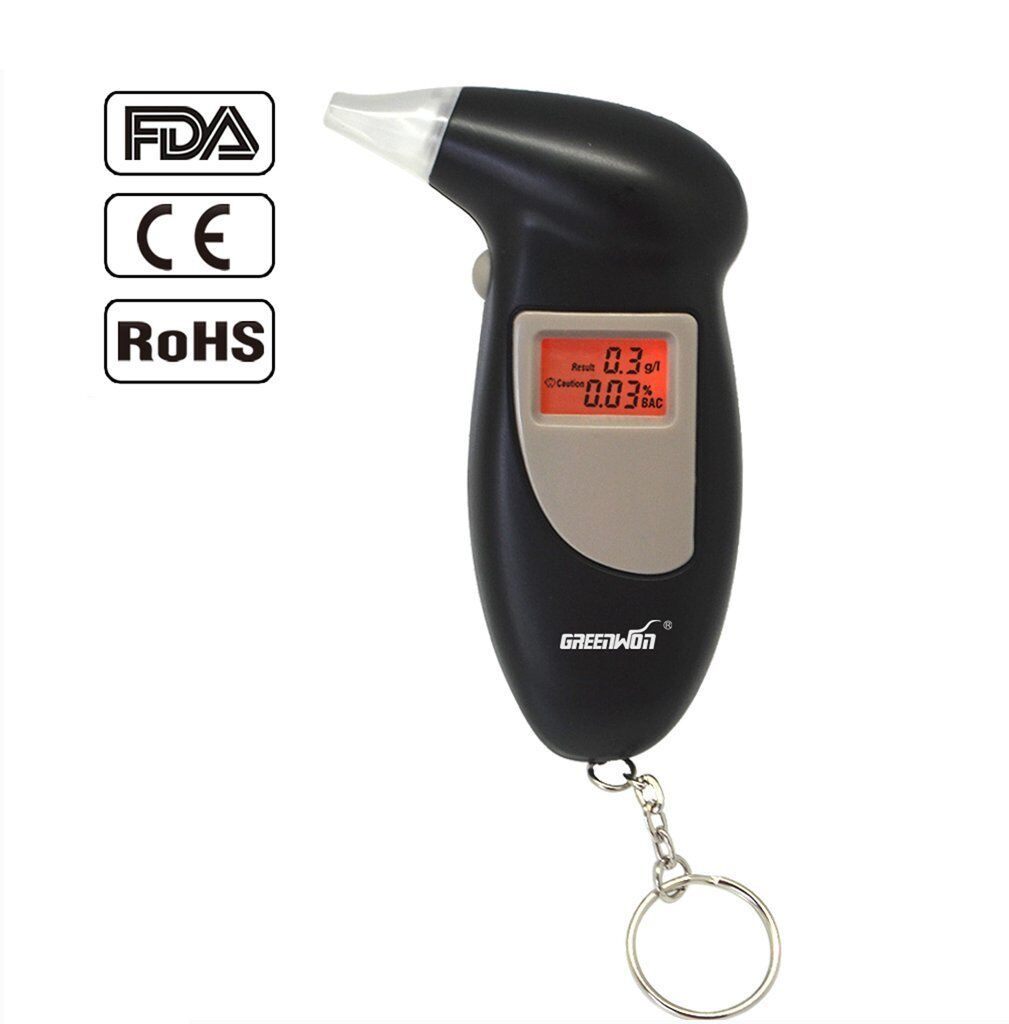 Breathalyzer Digital Alcohol Tester Detector Breath Analyzer Audible Alert