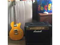 Epiphone Les Paul Special II Slash edition with Marshall Amp