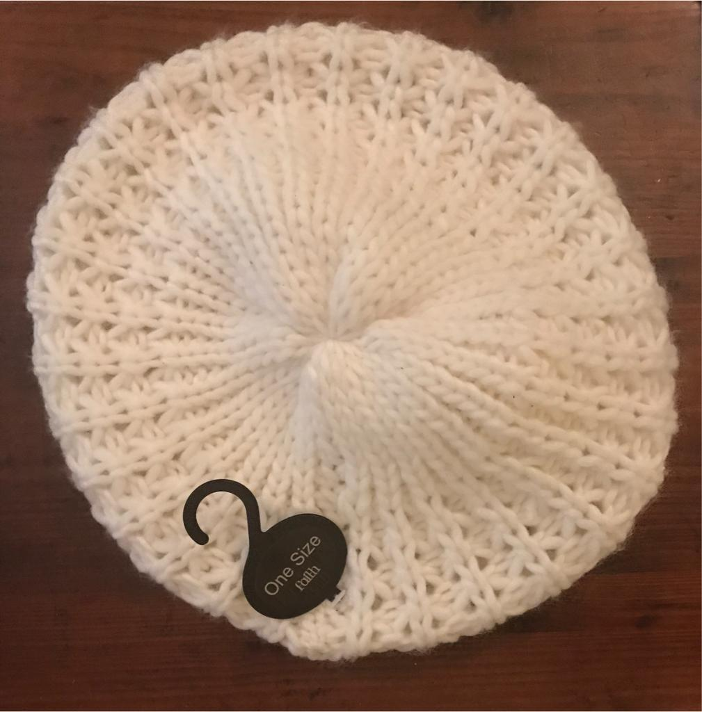 *BRAND NEW WITH TAGS* Cream 'Faith' Hat