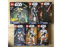 LEGO STAR WARS BUILDABLE FIGURES x 5.