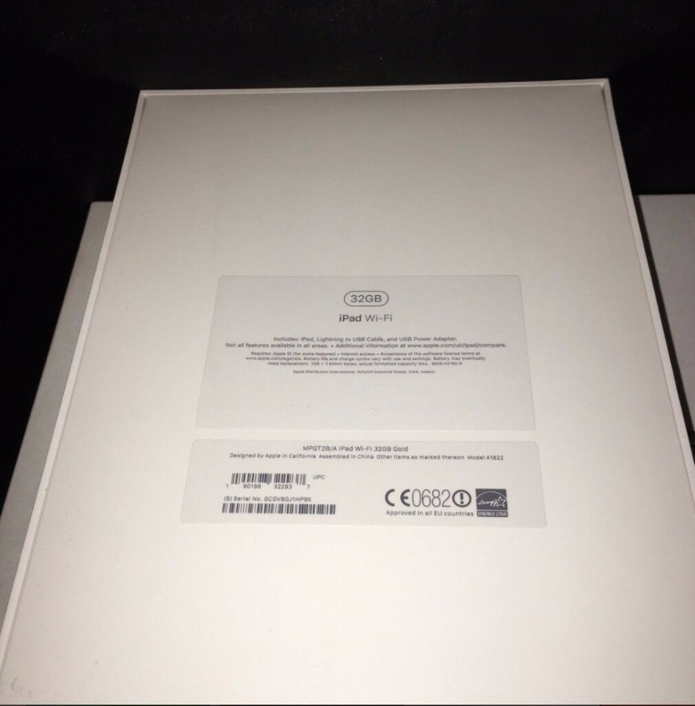 iPad 9.7 Inch Wi-Fi 32GB - Gold - Brand New