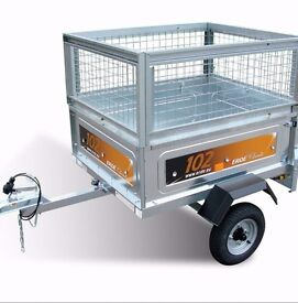 erde 102 trailer with cage