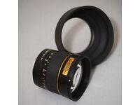 samyang / rokinon 85mm f1.4 aspherical len canon fit ef (sony adapter)