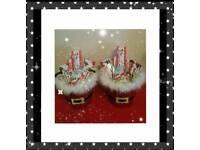 Santa kinder buckets