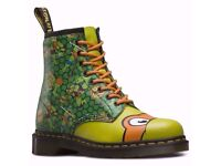 Dr Martens Size 8 Adult TMNT MIKEY Teenage Mutant Ninja Turtles boots BRAND NEW