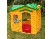 Tiny Tikes Playhouse Green & Yellow Good Condition