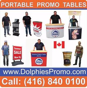 Promo Marketing Event Portable Sampling TABLE Promotion Kiosk Stand Counter + FREE Full Color Graphics + Travelling Bag
