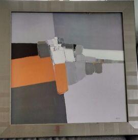 Painting (gray&orange)