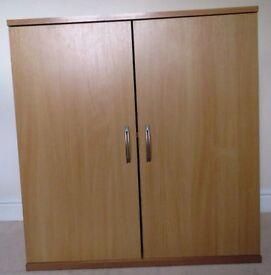 Low Office Cupboard in Beech