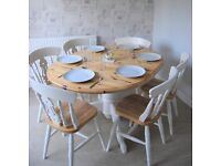 Farmhouse Table and Chairs - Extendable