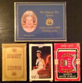4 Packs Of 'Queen's Silver & Gold Jubilee' Playing Cards