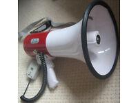 PORTABLE LOUD HAILER BATTERY OPERATED MEGAPHONE DETACHABLE MIC (8 Batts Inc)
