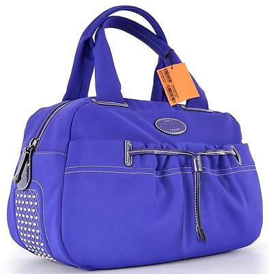 NEW TOD'S PASHMY PURPLE GRANDE GOMMINI DOT BAULETTO PURSE BAG TOTE~GORGEOUS!