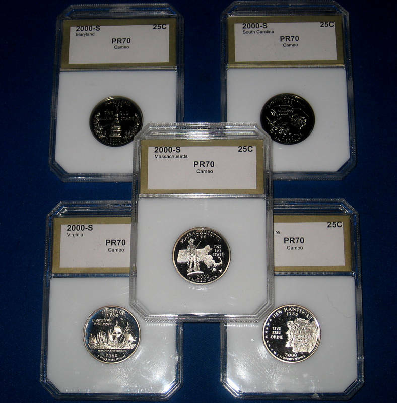 2002-S WASHINGTON GEM+++++ PROOF STATE QUARTER SET-PERFECT DEEP CAMEO COIN SLABS