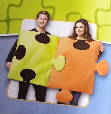 ADULT Mens Womens COUPLE COSTUME Funny Bar Halloween PUZZLE Piece S M L XL NEW - Couple Costume Funny