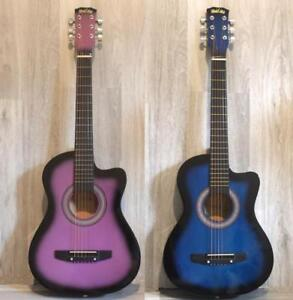 Christmas Gift ! Kids, Children acoustic guitars 3/4 size 36 inch Purple and Blue