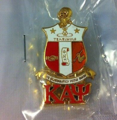 Kappa Alpha Letter (Kappa Alpha Psi Fraternity Crest with 3 Greek Letter Lapel)
