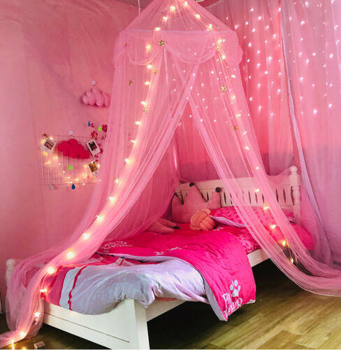 Star Bed Canopy Lace Mosquito Net for Girls Boys Adults Bed,