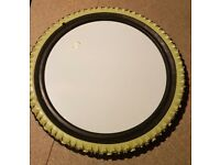 Retro IKEA Green and Black Tyre Mirror