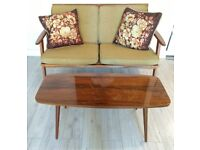 Retro Vintage Dansette legs Wooden Coffee Table (Delivery Possible)