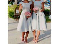 Like new elegant silver grey bridesmaid dress