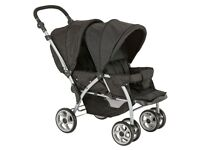 New newer open box Tandem double twin puschair prams stroller