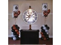 Casino Table - Wheel of Fortune with matching table and drapes, Roulette, BlackJack and others.