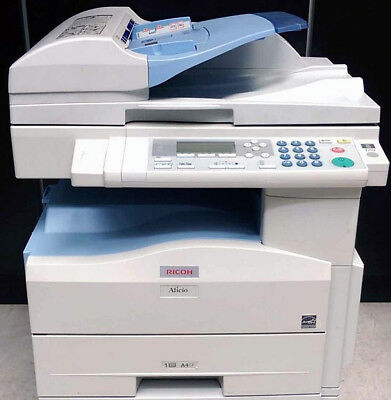 Ricoh Aficio Mp 201spf A4 Mono Laser Copier Printer Scanner Mfp 21ppm