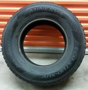 (ZH44) 1 Pneu d'Hiver - 1 Winter Tire 265-70-17 Minerva (Cloute - Studded) 10/32
