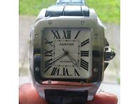 TOP QUALITY CARTIER SANTOS, SWEEPING MOTION, BRAND NEW.