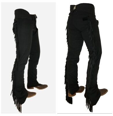 b64c6f0d4d NEW ULTRA-SUEDE BLACK CHAPS W/ COMFORT STRETCH PANEL ADULT Large xxlong