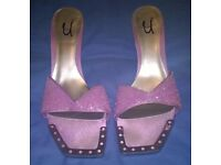 Pink Unze Heels by Shalimar Shoes