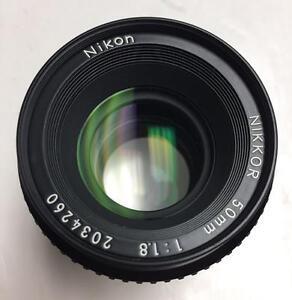 Nikon Nikkor 50mm f1.8 AI manual focus lens ex user with 90 days warranty