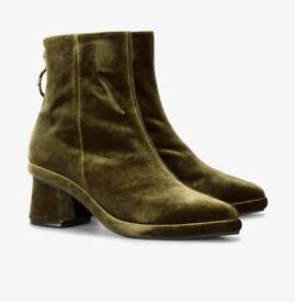 Reike Nen Green Ring 50 Velvet Ankle Boots Uk6 Italy39