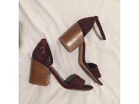 MUST SELL suede block heels