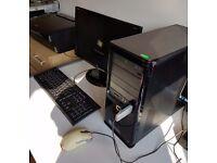 """Compaq PC, 20"""" monitor and Canon printer for sale"""