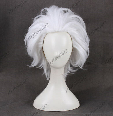 Ursula Wig Rick Morty Rick Sanchez Cosplay Wigs Short Layered White Straight](Ursula Wigs)