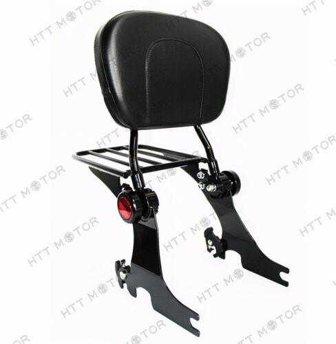 Adjustable Detachable Backrest Sissy Bar w/ Luggage Rack For HD Sportster 94-03